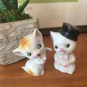 Vintage Kitty Couple Japan Figurines